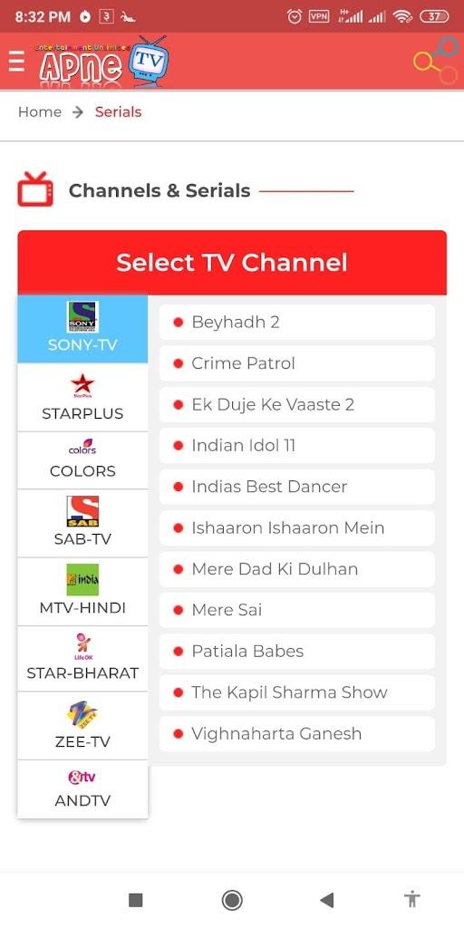 Apne Tv Colors : colors, Watch, Hindi, Serials, Download, 2.0.1, Apnetv.free
