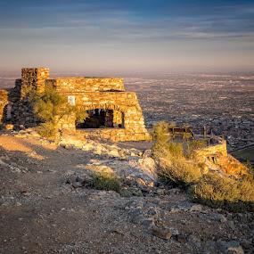 Sunset at Dobbins Peak by Hamish Carpenter - Landscapes Travel ( sunset, arizona, dobbins peak, hilltop, travel, phoenix )