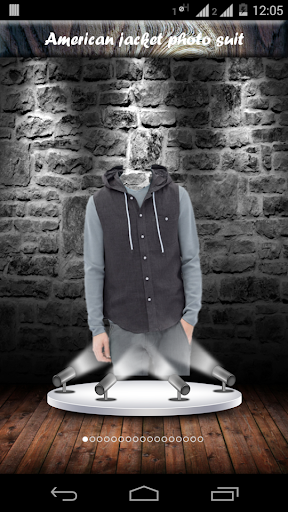 American jacket photo suit