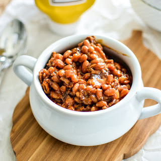 Slow Cooker Brown Sugar and Mustard Baked Beans