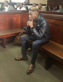 Sandile Mantsoe' the man accused of killing Karabo Mokoena appears at the Johannesburg Magistrate's Court.