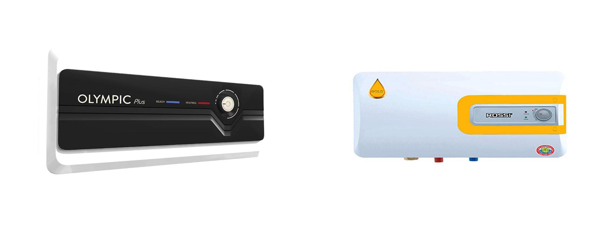 Bình nóng lạnh Olympic Plus và bình nóng lạnh Rossi