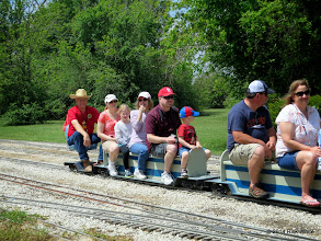 Photo: Conductor and HALS training supervisor Art Morris     HALS Public Run Day 2014-0419 RPW 12:00 Noon