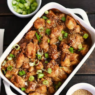 Better Than Takeout Baked Honey Sesame Chinese Chicken.
