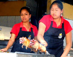 Photo: Roasting cuy for the lunch crowd, Cuenca