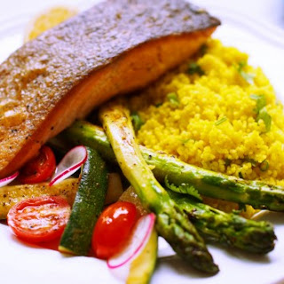 Wild Salmon on Spiced Couscous