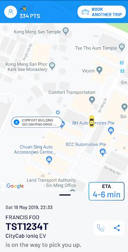 ComfortDelGro Booking App 5.4.2 Screenshots 6