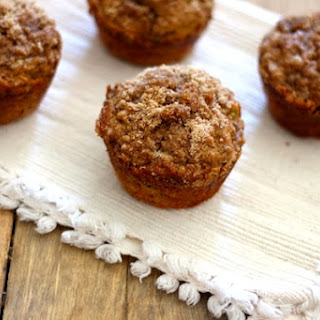 Whole Wheat Banana Zucchini Crumb Muffins