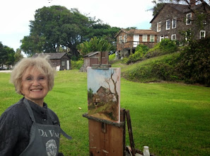 Photo: Dagmar painting the Dubois House 2-13-14