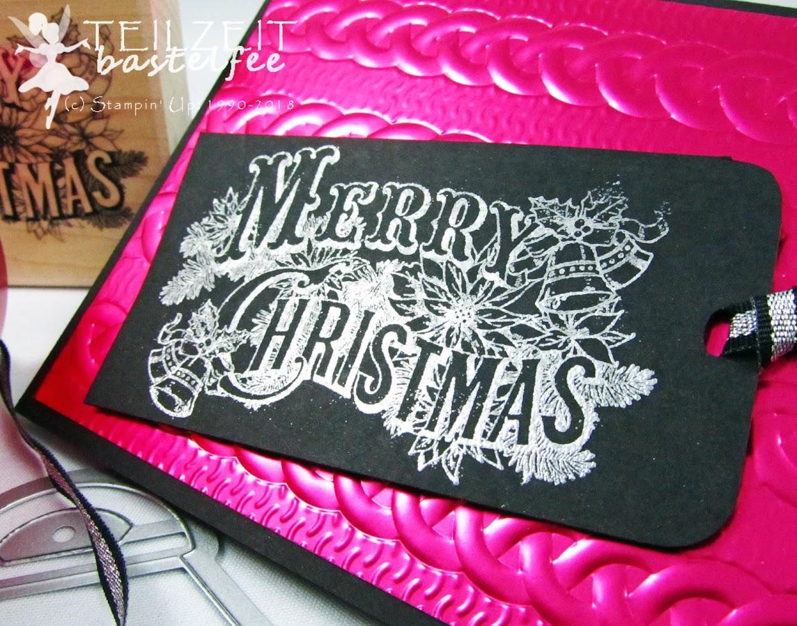 Stampin' Up! - Inkspire_Me, Christmas, Weihnachten, Christmas Postcard, Vintage, Metallic Kussrot Lovely Lipstick, Curvy Keepsake Box, Zierschachtel