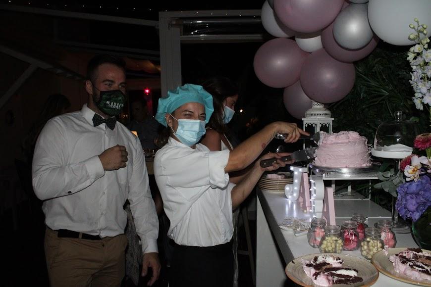 En la fiesta de cumpleaños de Jara.