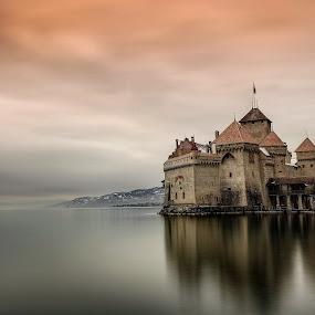 Château de Chillon by Arda Erlik - Buildings & Architecture Public & Historical ( sony, lake geneva, switzerland, montreux, château de chillon )