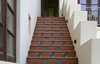 Photo: Malibu Tile Works - Outdoor Stair Risers - Private Residence - Malibu, CA