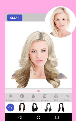 Hair Style Color Changer Women Screenshot
