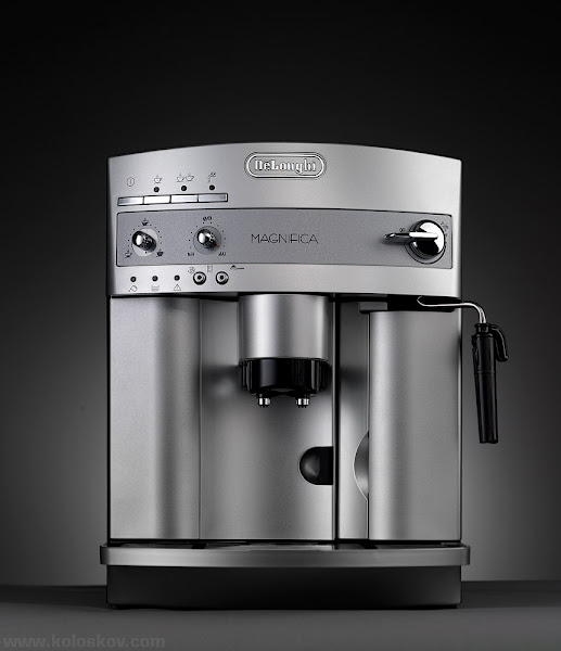 """Photo: EspressoMachine I love coffe, and we bough this beautiful DeLonghi coffeemaker last weekend when saw it at Costco atridiculousprice. I love studio product photography, and yesterday I went to a studio to shoot this guy before it gets used. I love to create tutorials, and next week we'll have a full """"how-it-was-done"""" tutorial from this shot. :-)  Meanwhile you can check my """"Tabletop Photography in examples"""" e-book:http://goo.gl/2AA2L as well asabsolutelyfree tutorials we have on +PHOTIGY: http://www.photigy.com/category/product-photography/"""