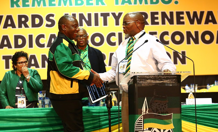 Cyril Ramaphosa and Gwede Mantashe. Picture: MASI LOSI