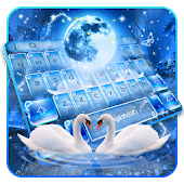 Magical Night Swan Couple Keyboard Android APK Download Free By Bs28patel