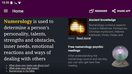 Numerology Psychic Reading- screenshot thumbnail