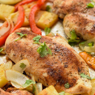 Sheet Pan Jerk Chicken with Pineapple Recipe