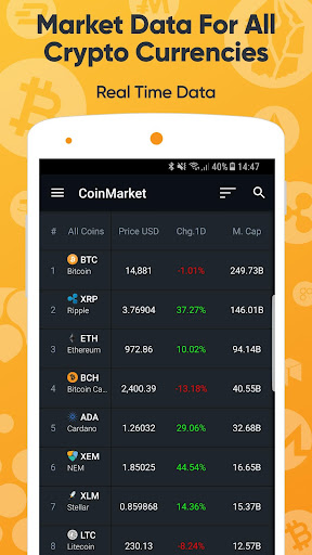 CoinMarket , Bitcoin, Ethereum +Alt - CryproRate  screenshots 1