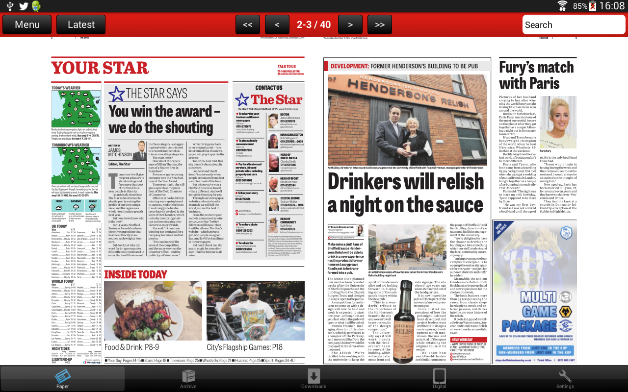 The Sheffield Star Newspaper- screenshot