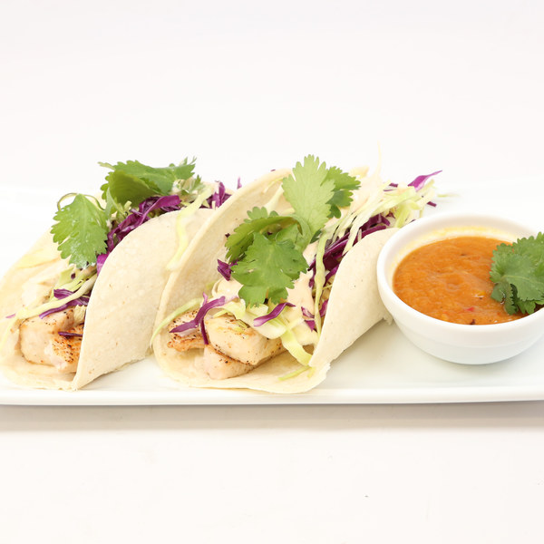 Mahi Mahi Fish Tacos with Chipotle Slaw and Roasted Pineapple Sauce ...