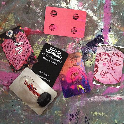 création de cartes de visite sophie lormeau artiste contemporaine plasticienne