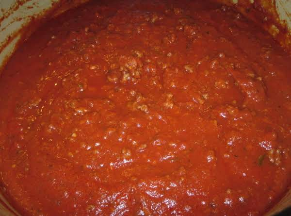 Meat Sauce For Pasta Quick And Easy By Rose