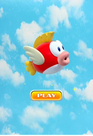 Flying Happy Fish