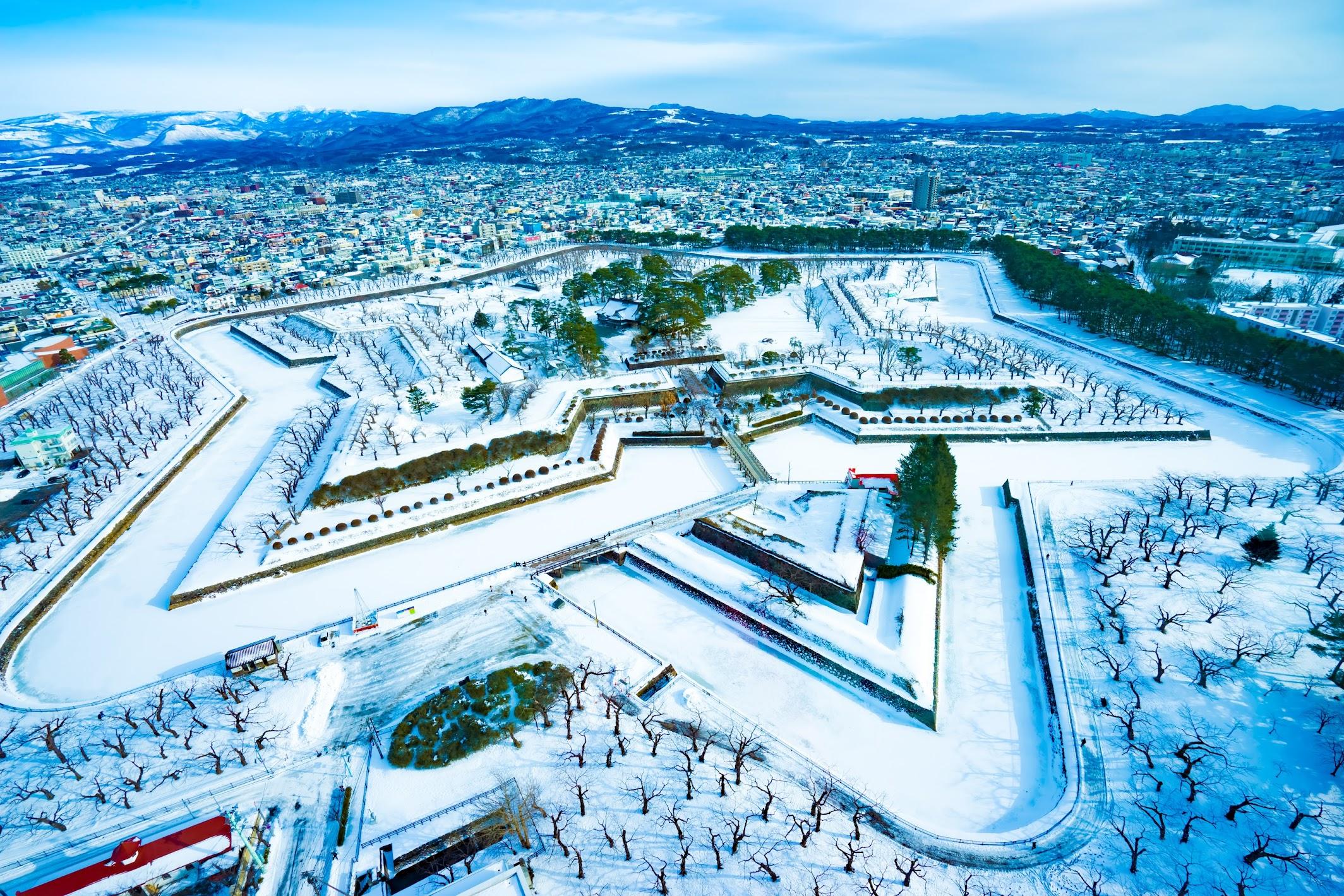 函館 五稜郭 冬1