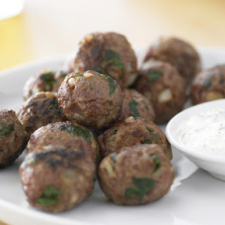 Spicy Meatballs with Yogurt Dipping Sauce