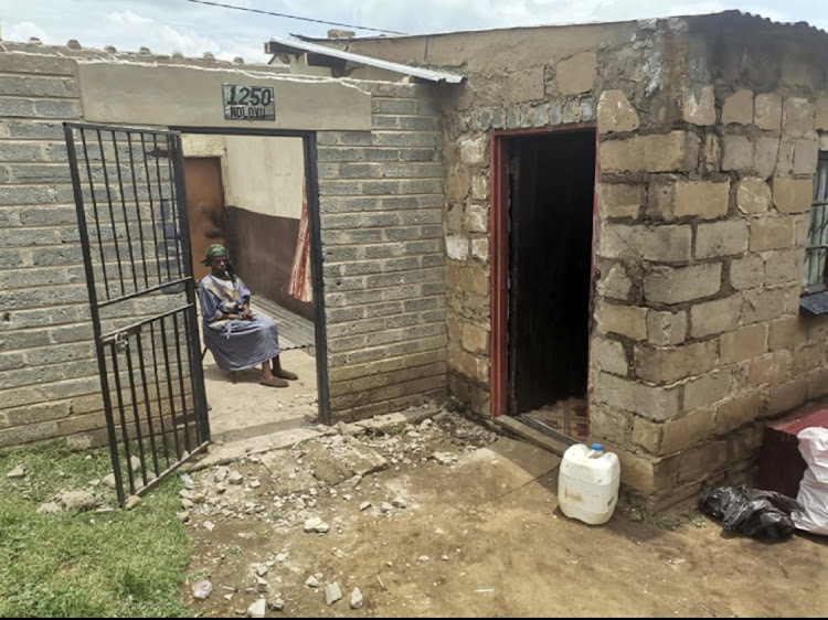 91-year-old Elizabeth Ndlovu, who was on Monday evicted from her RDP house with her children and grandchildren.