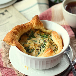 Spinach & Mushroom Mini Vegan Puff Pastry Quiche.