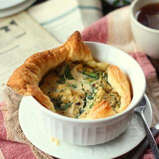 Spinach & Mushroom Mini Vegan Puff Pastry Quiche.