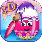 3D Coloring Games - Eggs icon