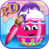 3D Coloring Games - Eggs