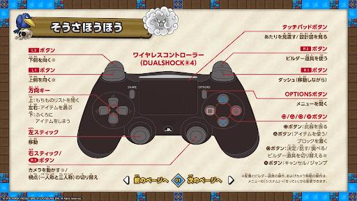 操作方法PS4コントローラー