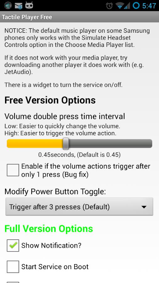 Tactile Player Free - screenshot