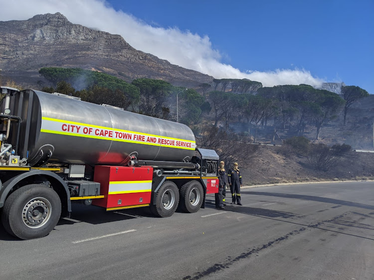 The raging fire on Devil's Peak was largely under control on Monday afternoon but hotspots and flare-ups are expected to continue.