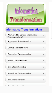 Informatica Transformation Guide - náhled