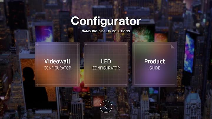 Samsung Configurator Android App Screenshot