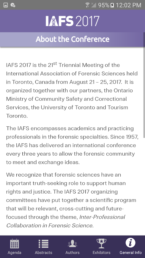 International Association of Forensic Sciences- screenshot