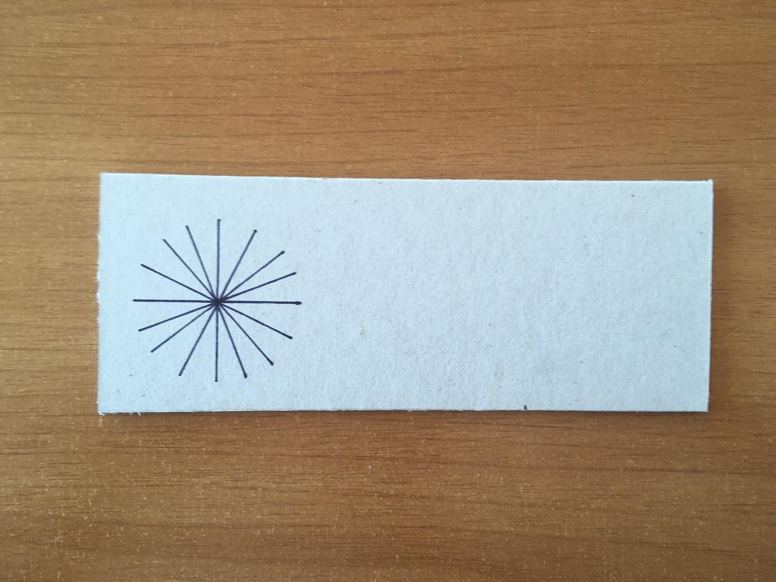 Trazado de cuatro líneas más sobre el dibujo anterior, nuevamente rotadas.