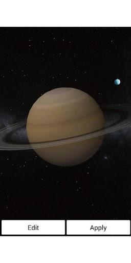 토성 및 천왕성 무료 라이브 배경 화면