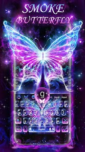 Smoke Butterfly Keyboard Theme - náhled