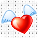 Love Sticker Color By Number - Pixel Art icon