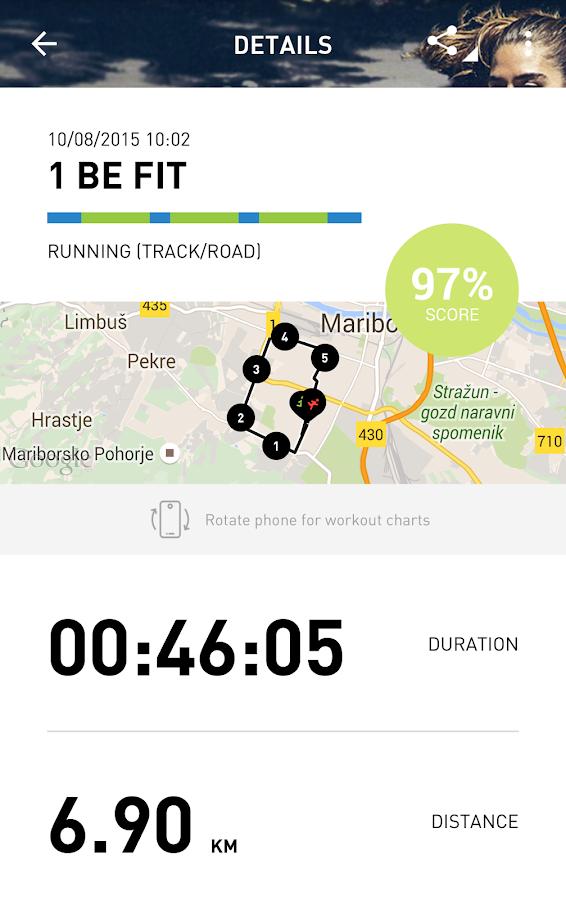 adidas train & run- screenshot