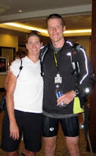 Photo: With Tara Norton after IM Muskoka 70.3