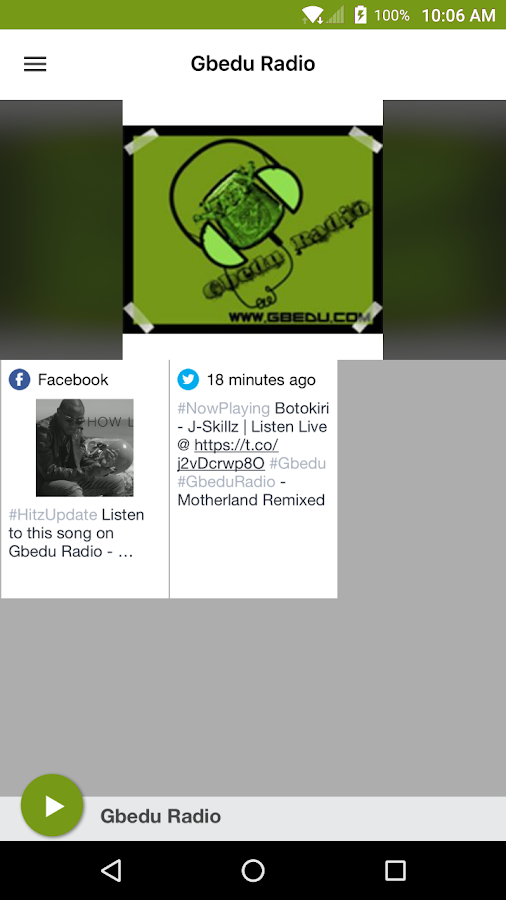 Gbedu Radio- screenshot