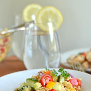 Quinoa Chickpea Greek Salad
